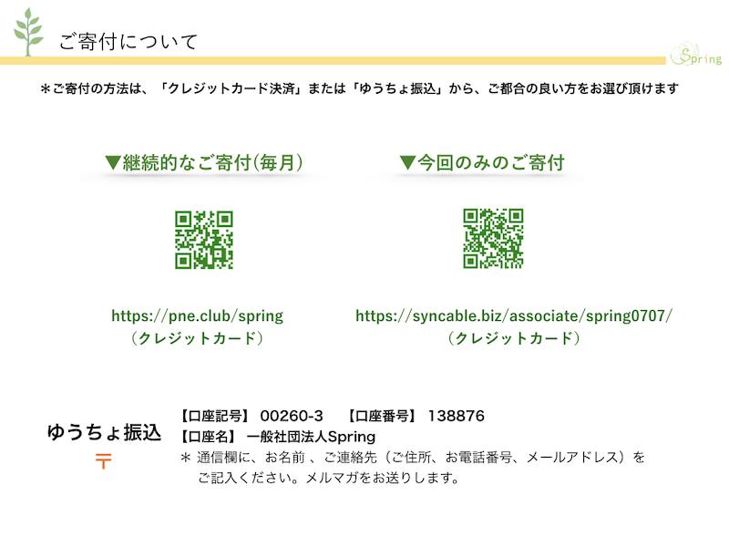 寄附QRコード